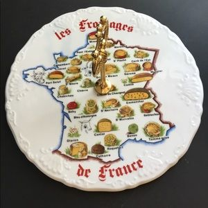 Vintage French Cheese Plate Limoges France